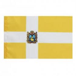 Флаг Ставропольского края мокрый шелк 0,9*1,35м для помещений