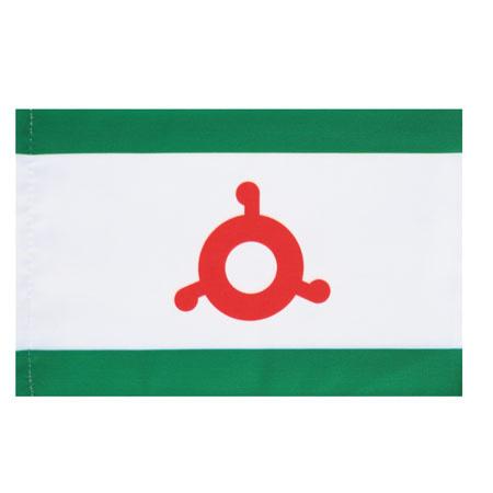 Флаг Республика Ингушетия мокрый шелк 1,0*1,5м для помещений