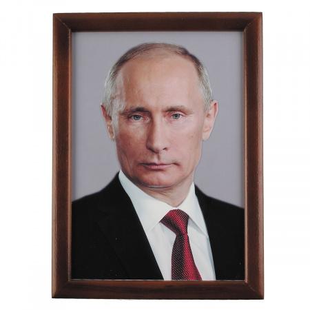 Портрет Путин В.В. А4 шелкография, рамка бук