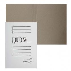 Обложка Дело   А4, толщина картона 0,4мм, плотность 260-280г/кв.м, картон мелованный, цвет белый  L-01-304