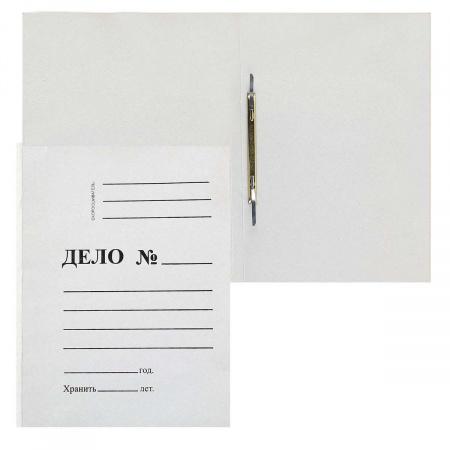 Скоросшиватель   А4, толщина картона 0,36-0,38мм, плотность 260г/кв.м., картон, цвет белый КиБ