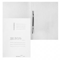 Скоросшиватель А4, толщина картона 0,4мм, плотность 260г/кв.м., немелованный картон, цвет белый