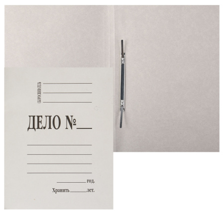 Скоросшиватель   А4, толщина картона 0,4мм, плотность 260г/кв.м., картон мелованный, цвет белый  L-02-134/1152