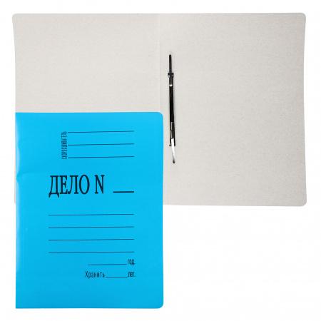 Скоросшиватель   А4, толщина картона 0,3мм, плотность 260-280г/кв.м, картон мелованный, цвет синий  816450/113951