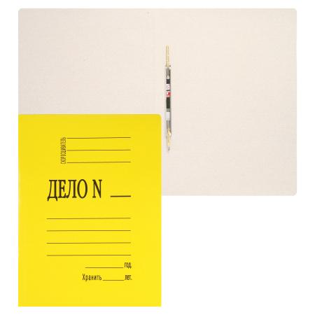 Скоросшиватель 0,4мм 260-280г/м мелов L-02-614/SK260Myel/816453 желтый пробитый