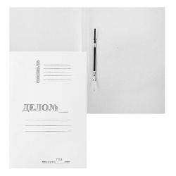 Скоросшиватель А4, плотность 360г/кв.м, немелованный картон, цвет белый Дело