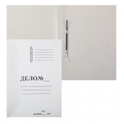 Скоросшиватель А4, толщина картона 0,6мм, плотность 440г/кв.м., картон мелованный, цвет белый