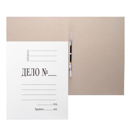 Скоросшиватель   толщина картона 0,6мм, плотность 360г/кв.м, немелованный картон, цвет белый  L-02-136