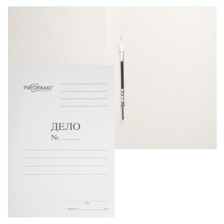 Скоросшиватель 0,9мм 450г/м мелованный Дело LP4045W белый