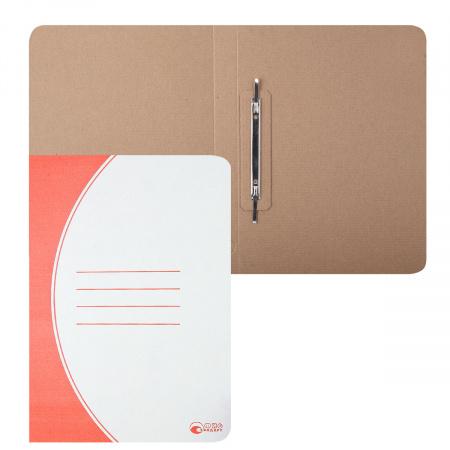 Скоросшиватель   А4, толщина картона 1,1мм, микрогофрокартон, цвет красный Офисстандарт