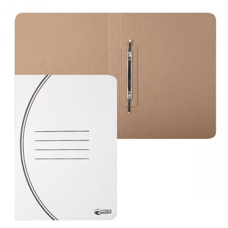 Скоросшиватель   А4, толщина картона 1,1мм, микрогофрокартон, цвет белый Офисстандарт