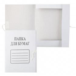Папка с завязкой А4, плотность 260г/кв.м., картон, цвет белый 1957