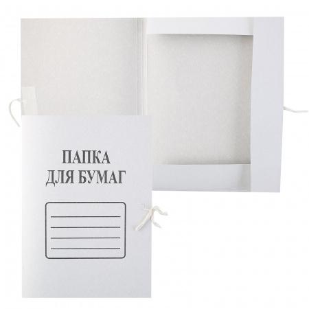 Папка с завязкой 360г/м 66583 белый