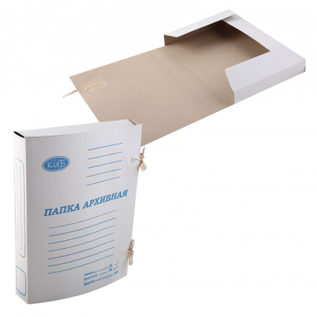 Папка с завязкой 0,6мм 360г/м арх корешок 40мм белый