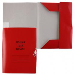 Папка с завязкой 0,6мм 300-320г/м мелованный L-03-626/PZ320Mred/816436 красная