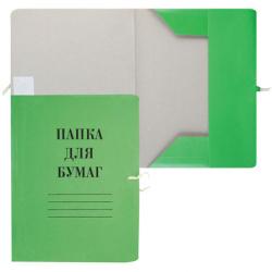 Папка с завязкой   А4, толщина картона 0,6мм, плотность 300-320г/кв.м., картон мелованный, цвет зеленый  816435