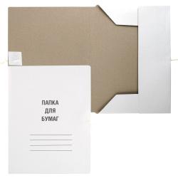 Папка с завязкой   А4, толщина картона 0,8мм, плотность 350-400г/кв.м, немелованный картон, цвет белый  L-03-148