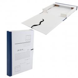 Короб архивный 35мм картон бумвинил с завязками Дело КСД4035-203 синий