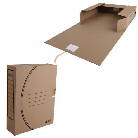 Короб архивный 320*250мм, гофрокартон, на завязках, цвет коричневый Офисстандарт 1456