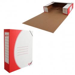 Короб архивный 75мм гофрокартон на резинках 1456/1 красный