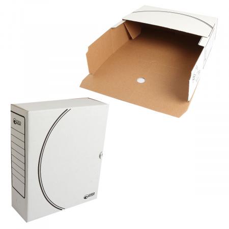 Короб архивный 320*260мм, гофрокартон, клапан, цвет белый Офисстандарт 1800