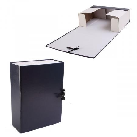 Короб архивный 330*240мм, картон с бумвиниловым покрытием, на завязках, цвет синий Имидж КСБ4100-203