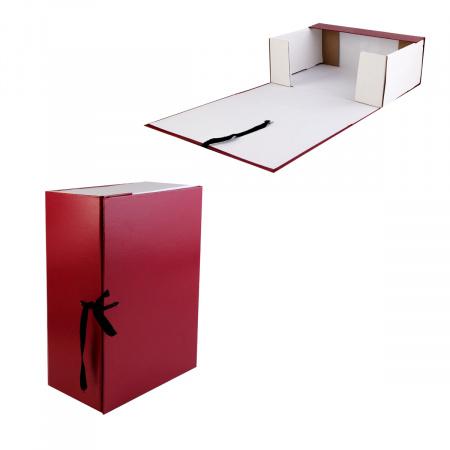 Короб архивный 120мм картон бумвинил с завязками КСБ4120-209 бордо