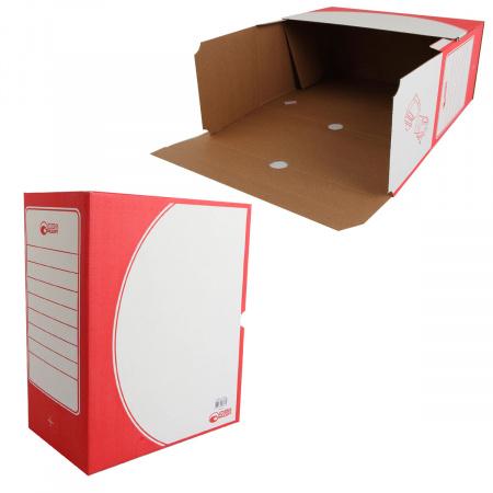 Короб архивный 150мм гофрокартон 1801 красный