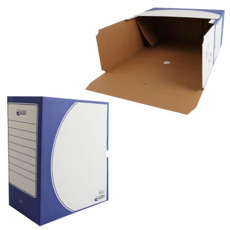 Короб архивный 150мм гофрокартон 1801 синий