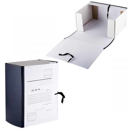 Короб архивный Дело 320*260мм, картон с бумвиниловым покрытием, на завязках, цвет ассорти Имидж КСД4150-203