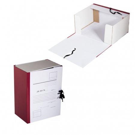 Короб архивный 150мм картон бумвинил с завязками Дело КСД4150-209 бордо