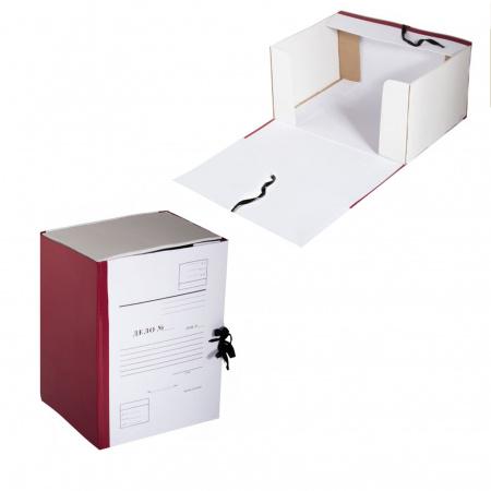 Короб архивный Дело 330*240мм, картон с бумвиниловым покрытием, на завязках, цвет бордовый Имидж КСД4200-209