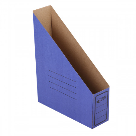 Накопитель вертикальный гофрокартон, цвет синий Офисстандарт 1455