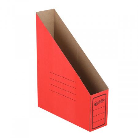 Накопитель вертикальный 75мм гофрокартон 1455 красный