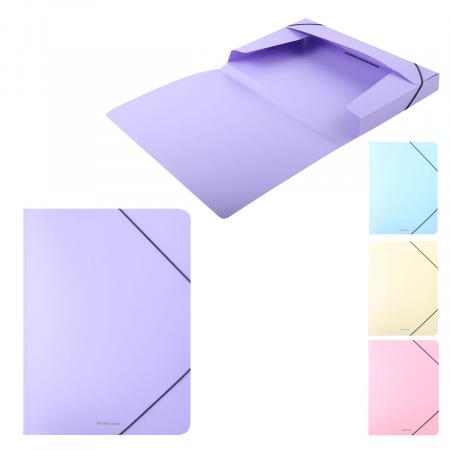 Короб архивный Pastel пластик, на резинке, цвет ассорти Erich Krause 50400