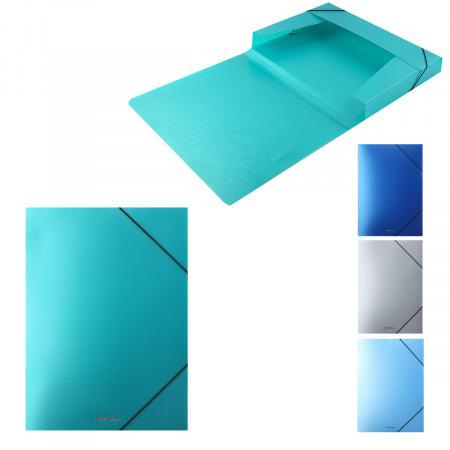 Короб архивный 30мм пластик с резинками Matt Ice Metallic 50399 ассорти