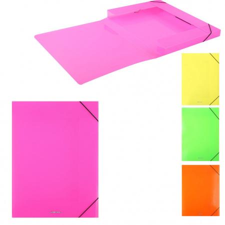 Короб архивный 30мм пластик с резинками Glance Neon 43056 ассорти