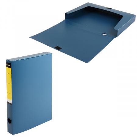 Короб архивный 36мм пластик на липучке NB6336B синий