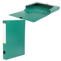 Короб архивный 320*260мм, пластик, на липучке, цвет зеленый inФОРМАТ NB6336G