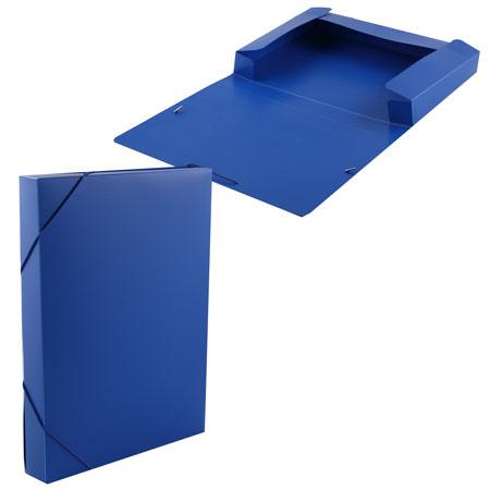 Короб архивный 40мм пластик с резинками 816206 синий