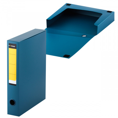 Короб архивный 320*260мм, пластик, на липучке, цвет синий inФОРМАТ NB6356B