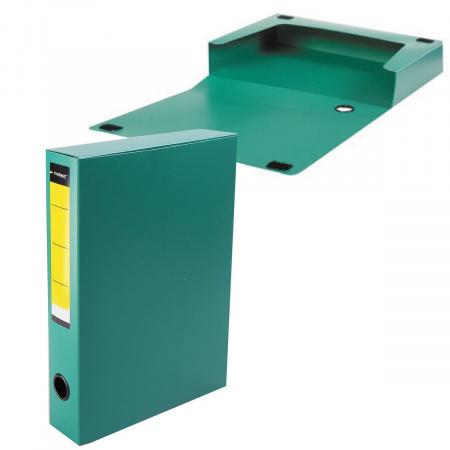 Короб архивный 56мм пластик на липучке NB6356G зеленый