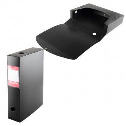 Короб архивный 70мм пластик на кнопках KLERK 190990 черный