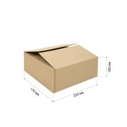 Короб для хранения 220*170*100мм, гофрокартон, коричневый