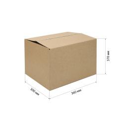 Короб архивный 370*300*360мм, гофрокартон, коричневый №23