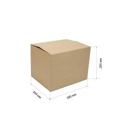 Короб архивный 380*304*285мм, гофрокартон, коричневый №70