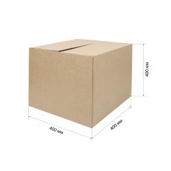 Короб архивный 400*400*400мм, гофрокартон, коричневый №39