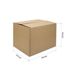 Короб для хранения 500*370*370мм, гофрокартон, коричневый №24
