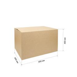 Короб для хранения 600*400*400мм, гофрокартон, коричневый №37