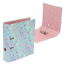 Регистратор 75мм офсет Pastel неразборный deVENTE 3090100 пастельный бирюзовый